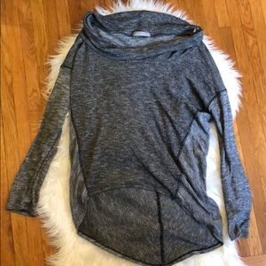 Olivia Moon Grey Cowl Neck Sweater